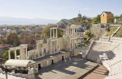 Старый театр в Пловдиве, Болгарии Стоковая Фотография