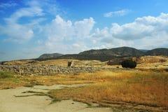 Старый театр в Hierapolis, фронте взгляда, Турции, Pamukkale Стоковые Изображения RF