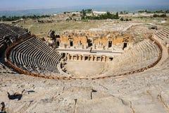 Старый театр в Hierapolis Стоковые Изображения