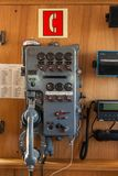 старый телефон корабля стоковая фотография rf