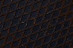 Старый темный металлический лист рифлёный Стоковая Фотография RF