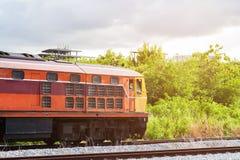 Старый тепловозный вагон пригородного поезда Стоковая Фотография