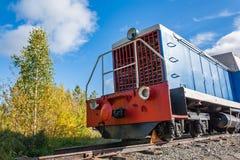 Старый тепловозный паровоз Стоковое Фото