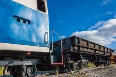 Старый тепловозный паровоз Стоковые Изображения