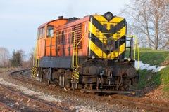Старый тепловозный поезд Стоковая Фотография RF