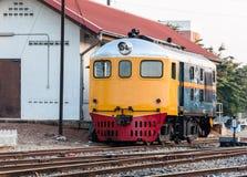 Старый тепловозный гидравлический локомотив Стоковая Фотография