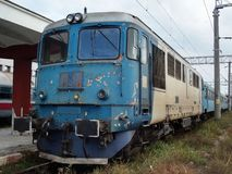 Старый тепловозный электрический локомотив Стоковая Фотография RF