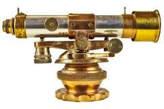 Старый телескоп изолированный на белизне Стоковое фото RF
