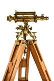 Старый телескоп изолированный на белизне Стоковое Изображение