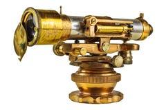 Старый телескоп изолированный на белизне Стоковые Изображения RF