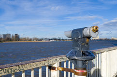 Старый телескоп Стоковая Фотография RF