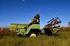 Старый тип зернокомбайн тяги John Deere Стоковые Фото