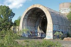 старый тоннель stalin Часть линии обороны Kyiv во времени WW2 Сегодня названное ` конкретное ` подводной лодки, Kyiv Стоковое фото RF