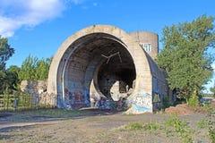 старый тоннель stalin Часть линии обороны Kyiv во времени WW2 Сегодня названное ` конкретное ` подводной лодки, Kyiv Стоковое Изображение RF