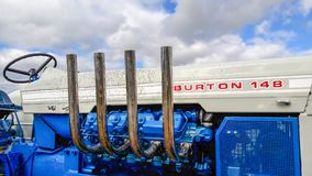 Старый трактор burton 148 брода Стоковое фото RF