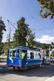 старый трамвай для туристов в центре города Стоковое Изображение