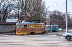 старый трам Стоковые Изображения