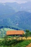Старый традиционный горный вид Карпатов дома Стоковые Фотографии RF