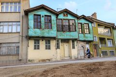 Старый турецкий дом в Konya стоковые фотографии rf