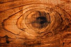 Старый узел древесины доски дуба Стоковое Изображение