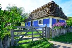 Старый украинский дом Стоковые Изображения