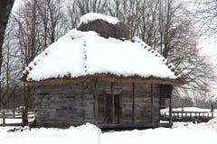 Старый украинский дом Стоковые Фото