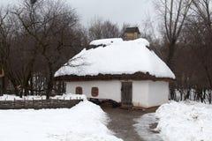 Старый украинский дом Стоковые Изображения RF