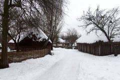Старый украинский дом Стоковая Фотография RF