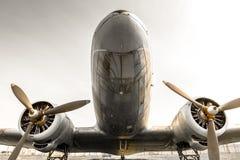Старый устарелый пропеллер воздушных судн Стоковое Изображение