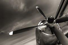 Старый устарелый пропеллер воздушных судн Стоковое фото RF