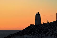 Старый утес маяка Стоковые Фото