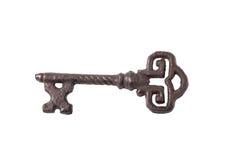Старый утюг ключа изолированный на белизне Стоковое Фото