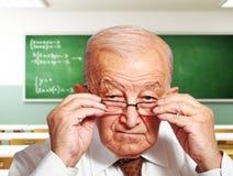 старый учитель Стоковые Изображения