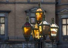 Старый уличный фонарь металла Стоковое Изображение RF