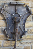 Старый факел металла с экраном Стоковые Изображения RF