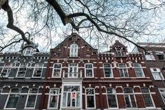 Старый фасад двухэтажного здания в Роттердаме, Бельгии Стоковые Изображения