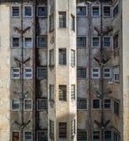 Старый фасад квартиры Стоковые Изображения RF
