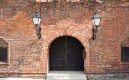Старый фасад кирпича Стоковое Изображение