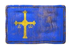 Старый флаг Астурии бесплатная иллюстрация