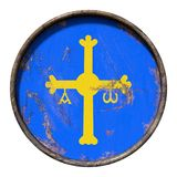 Старый флаг Астурии иллюстрация штока