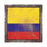 Старый флаг Колумбии Стоковые Фотографии RF