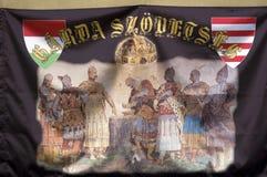 Старый флаг, Bosztorpuszta, Венгрия Стоковая Фотография RF