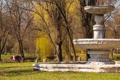 Старый фонтан в городе Krivoy Rog Стоковые Изображения RF