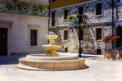 Старый фонтан в Andricgrad, Таре стоковая фотография