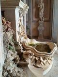 Старый фонтан столетия женщины XIX статуи Стоковые Фотографии RF