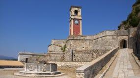 Старый форт в городке Корфу, Греции Стоковое фото RF