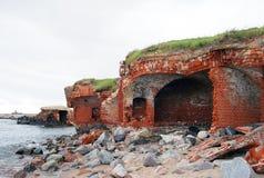 Старый форт в Baltiysk Стоковая Фотография