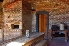 Старый форт имел большую кухню с местом и хранением огня стоковые изображения