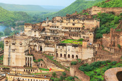 Старый форт bundi и дворец Индия Стоковое Изображение RF