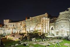Старый форум Augustus в Риме стоковые изображения